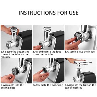 Instructions For Use Meat Grinder