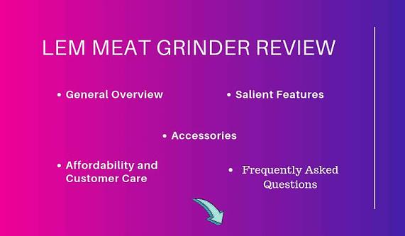 Lem Meat Grinder Review Highlight